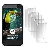 5X Motorola Moto G | Schutzfolie Matt Display Schutz [Anti-Reflex] Screen Protector Fingerprint Handy-Folie Matte Displayschutz-Folie für Motorola Moto G 1. Generation Displayfolie