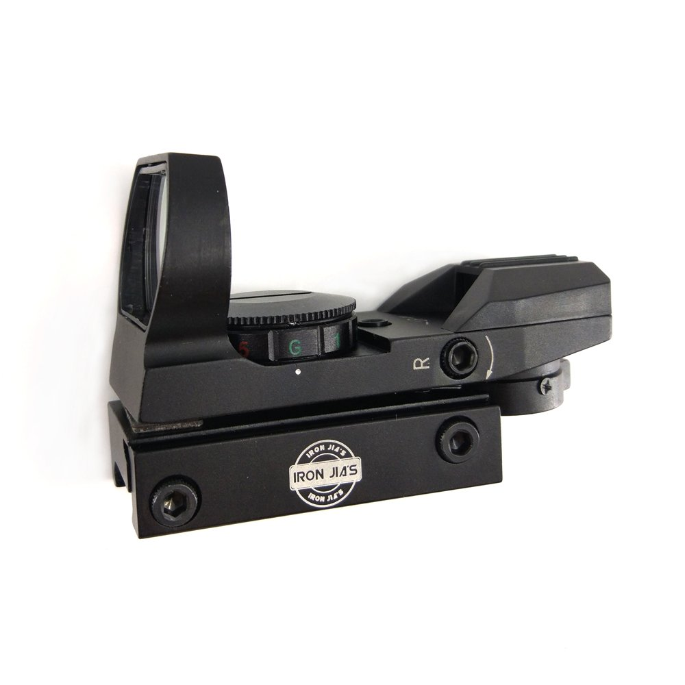 IRON JIA/'S 20mm Rail Tactical Multi Reticle 4 Red and Green Dot Sight Scope