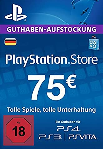 PSN Guthaben-Aufstockung 75 € [PSN Code für deutsches Konto]