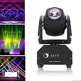 Teste Mobili LED,Uking DMX512 Luci da Scena 50w Mini Rotante LED Pinspot Luce Effetto Attivazione vocale Luce Della Fase per Discoteca Festa di Compleanno Matrimonio Natale
