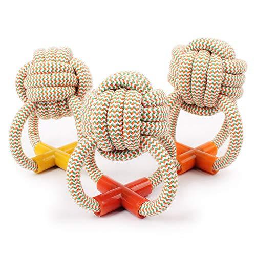 Alistacc Hundespielzeug Ball Für Hunde Striped Baumwollseil - Octopus Ball Spot Großhandel Heimtierbedarf Hund Katze Molar Bissfestes Spielzeug 3Pcs -