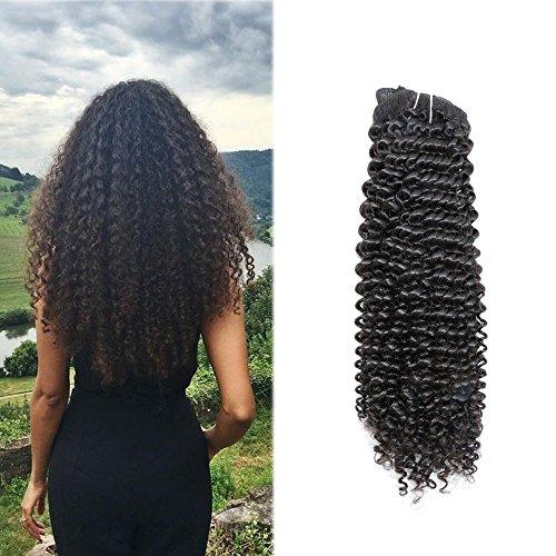 120 Gram Remy Clip in Haarverlängerung Verworrenes lockiges Haar Natürliche Farbe für Schwarze Frauen Vollen Kopf Clip auf Menschliches Haar Extensions Haar Echthaar