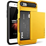 Cover iPhone 7, VRS Design [Damda Glide][Giallo]- [Scorrevole Semi-Automatico] [Porta carte di credito][Perfetto Protezione] For Apple iPhone 7 4.7