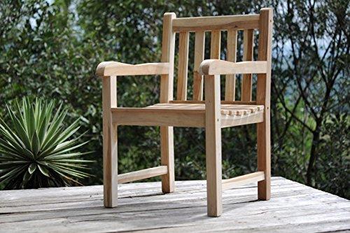 SAM Gartensessel Caracas, Gartenstuhl aus Teak-Holz, Sessel mit Armlehnen, aus Massivholz, für...