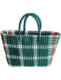 GURUDEV CRAFTS Plastic Washable Multipurpose Grocery Bag (Multicolour)