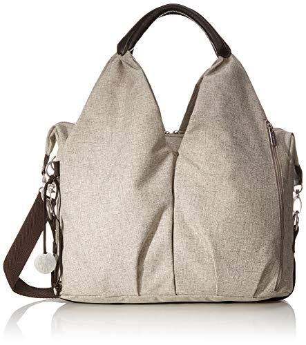 LÄSSIG Baby Wickeltasche nachhaltig inkl. Wickelzubehör/Green Label Neckline Bag, Hellbraun/Choco mélange (Farbe Ihrer Eigenen Tasche)