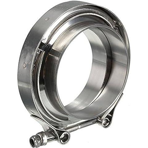 Moppi 3 pollici scarico v-fascette con acciaio inox universale di flangia tubo turbina intercooler