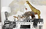 Vandelkt Famiglia Di Animali Originale Tigre/Zebra/Cervo/Giraffa Sul Treno Carta Da Parati Del Fumetto 3D Per La Stanza Dei Bambini Adesivo Del Fumetto Della Scuola Materna
