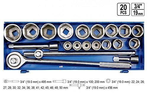 Steckschlüsselsatz 20 Tlg. LKW Ratschenkasten 22-50 3/4\'