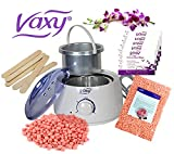 Wax Warmer, Hair Removal Waxing Kit, Electric Pot Heater Melts with Accessories. Painless