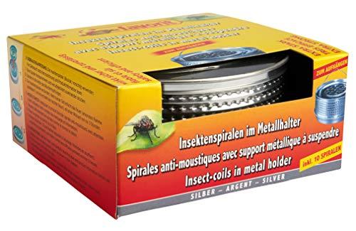 Favorit Mückenspirale + Metalltopf, silber - Insektenschutz Wirkzeit ca. 5 Stunden, inkl. 10 Spiralen - 1288S