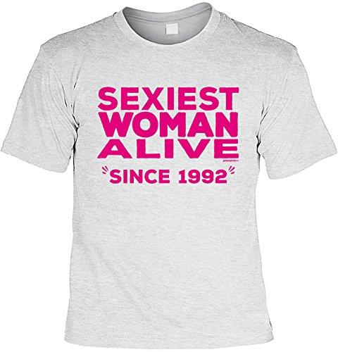 T-Shirt zum 25. Geburtstag Shirt Sexiest Woman Alive Since 1992 Geschenk zum 25 Geburtstag 25 Jahre Geburtstagsgeschenk 25-jähriger Grau