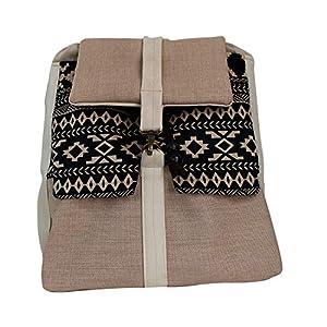 Rucksack Damen 33cm wasserdicht 'beige-schwarz'| Tasche | HANDMADE | Geschenkideen für Frauen