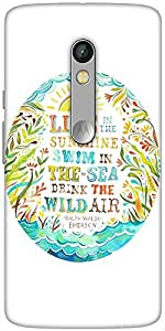 Snoogg Live Fully Designer Protective Back Case Cover For Motorola Moto X Play
