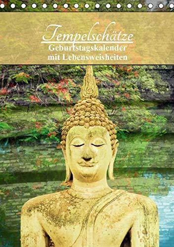 Tempelschätze (Tischkalender 2020 DIN A5 hoch): Geburtstagskalender mit buddh. Weisheiten (Geburtstagskalender, 14 Seiten ) (CALVENDO Gesundheit)