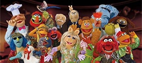 1art1 77440 Muppets - Miss Piggy, Kermit Der Frosch, Gonzo Der Große Und Andere Charaktere Fototapete Poster-Tapete 202 x 90 cm