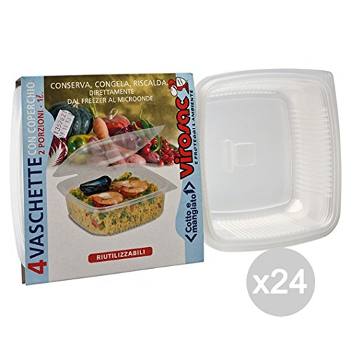 Set 24 VIROSAC Microwave Bowl Cover 2P+X 4 Food Preparation And Cooking