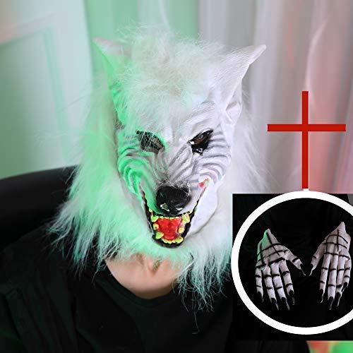 Realistische Wolf Anzug - VeiXu Wolf Kopf Tiermasken Anzug Kostüm-Partei