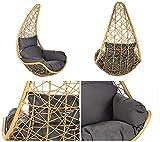 Home Deluxe | Polyrattan Hängesessel | Korb Curl | inkl. Sitz- und Rückenkissen