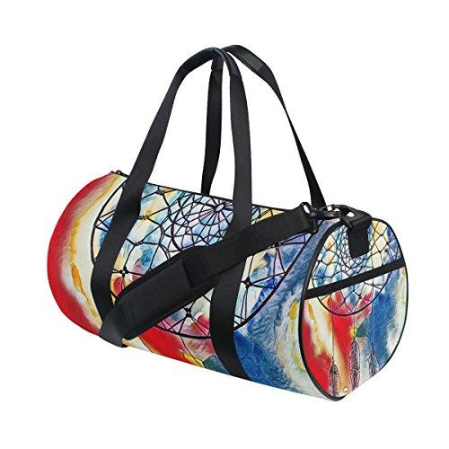 jstel Atrapasueños de tinta abstracto bolsa de deporte gimnasio para hombres y mujeres bolsa de viaje de viaje