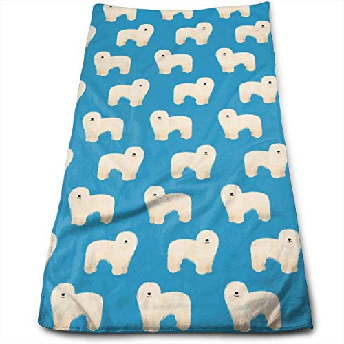 WTZYXS Komondor Dogs Cute Pattern Microfiber Multi-Purpose Towel Bath Towels Hand Towels Washcloth Towels Bathroom Towels - Great Shower Towels, Hotel Towels & Gym Towels 12