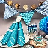 Oblique Unique® Holz Fische Tischstreu Streuartikel Taufe Blau Weiß - Streudeko Verzierung für Taufe, Kommunion und Konfirmation - Echtholz - 4