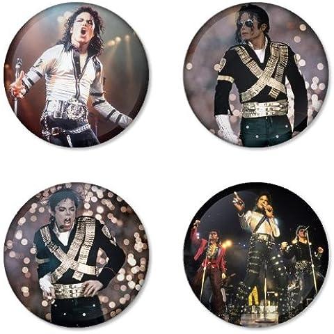 MICHAEL JACKSON Round Badges Button 1.75