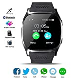 Bluetooth Smart Watch, KeepGoo Reloj Inteligente de pulsera con Cámara Reproductor de música Facebook WhatsApp Sync SMS Smartwatch Soporte SIM TF tarjeta para para el iPhone 7 8 7 Plus 6 Samsung S8 y otros teléfonos inteligentes Android o iOS (Negro)
