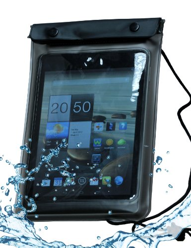 Navitech schwarzes Wasserfestes Case, Wasserfestes Cover für 8 Zoll Tablets Inklusive das Asus memo pad 8 / Asus Vivo Tab Note 8 (Asus Vivo Tab Case)