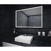 Schön Design Badspiegel Mit LED Beleuchtung Wandspiegel Badezimmerspiegel  Nach Maß