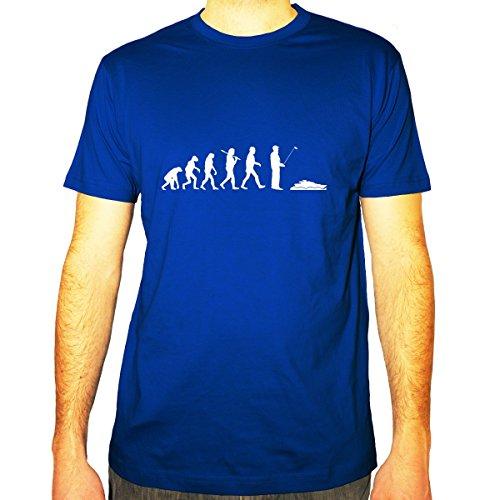 Shirtfun24 Herren EVOLUTION RC YACHT Boot Schiff Fun T-Shirt, royal blau, XXL