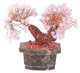 Naeve Leuchten Bonsai-Rosenquarz mit 150 Edelsteinen, höhe 15 cm, 031132