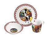 Yakari Frühstücksset 3-teiliges Porzellanset, Porzellan, Mehrfarbig, 22,5 x 9,5 x 19,5 cm, 3-Einheiten