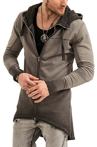trueprodigy Casual Herren Marken Sweatjacke Einfarbig Basic, Oberteil Cool und Stylisch mit Kapuze (Langarm & Slim Fit), Sweat Jacke für Männer, Größe:XL, Farben:Schwarz