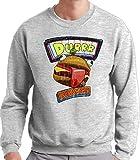 Mx Games Sudadera Fortnite Durr Burger de Cuello Redondo (Todas Las Tallas Disponibles) (XL)