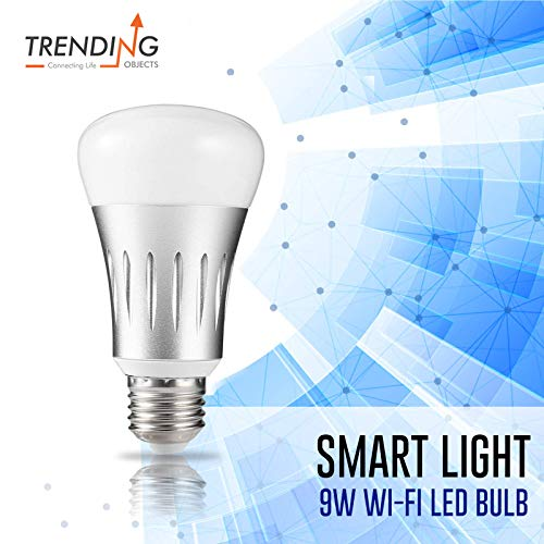 7W Smart WiFi LED Light Bulb E27 Base, Multi-Color, Dimmable, No Hub Required, Free APP Remote Controlled Home Night lamp, Compatible with Alexa & Google Assistant