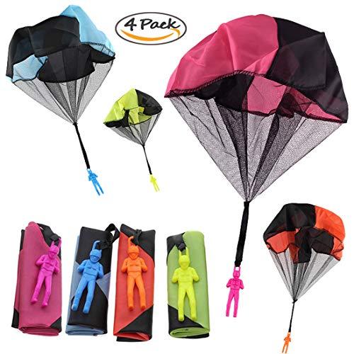 Joyfeel's Store 4 Piezas de Juguete para paracaídas, enredo...