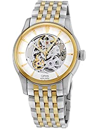 Oris Artelier Skeleton Automatic Steel & Gold Tone Mens Watch 734-7670-4351-MB