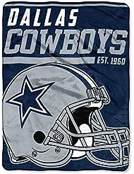 Northwest NFL DALLAS COWBOYS 40 Yard Dash Micro Raschel Throw Blanket