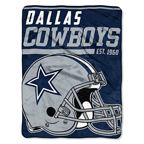 40Yard Dash Micro Raschel Überwurf Standard marineblau (Dallas Cowboy-party)