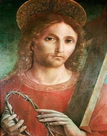 Feeling at Home Feelingathome-Leinwand-Bild-Jesus-mit-Kreuz-und-Dornenkrone-custom-Ernte-cm67x53-Kunstdruck-auf-Leinwand (Kreuz Mit Dornenkrone)