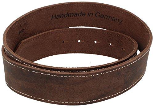 Trachtenkönig Trachtengürtel Original Unisex zur Lederhose Hirsch Kürzbar (95 cm, Dunkelbraun (Vollrindleder))_TK02_01_95 - 5