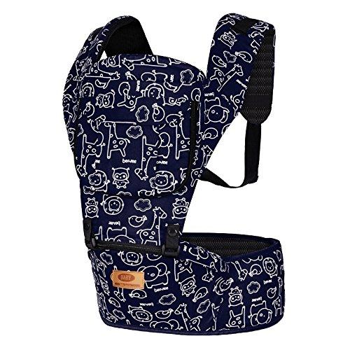 WANGXN Ergonomische Komfort-Sicherheits-Babyschale Multifunktions-Vier Jahreszeiten Breathable Baby Seat,Blue