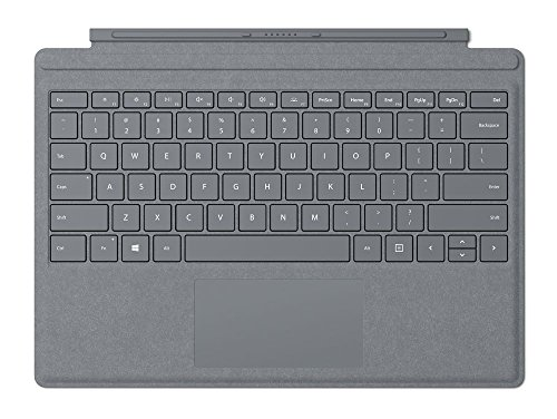 Microsoft Surface Pro Signature Type Cover (Kompatibel mit Surface Pro/Pro 4/Pro 3, LED-Hintergrundbeleuchtung) platin grau(Qwertz tastatur)