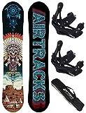 AIRTRACKS SNOWBOARD SET - BOARD GOLDEN ARROW 150 - SOFTBINDUNG SAVAGE M - SB BAG