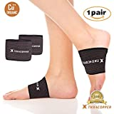 Thx4 Copper Arch Support-2 Plantar Fasciitis Braces/Sleeves- Copper Infused Fit Support - Graduated Compression Arch Braces -Great for Foot Care, Heel Spurs, Foot Pain, Flat Feet( 1PAIR)