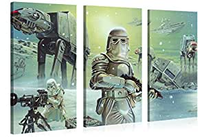 star wars 120x80cm wand bild empire attacks xxl leinwand druck original lizenzprodukt. Black Bedroom Furniture Sets. Home Design Ideas