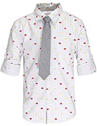 Life by shoppers Stop Boys Collared Neck Printed Shirt with Tie
