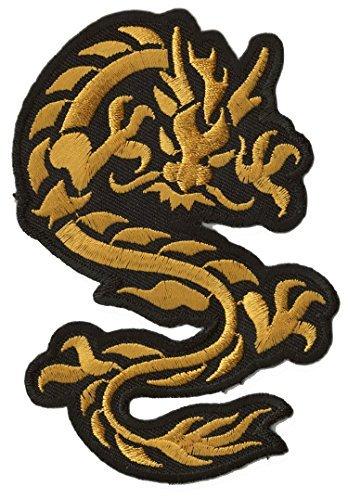Parche insignia termoadhesivo Dragón dorado