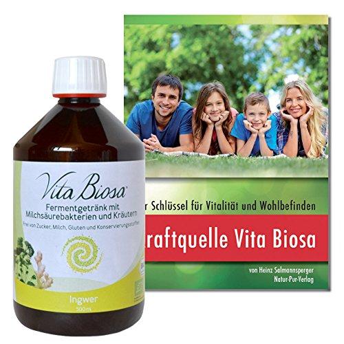 NEU! VITA BIOSA Ingwer Ginger 500 ml / GRATIS: Buch *Kraftquelle Vita Biosa* überarbeitete Neuauflage (9,80 €)